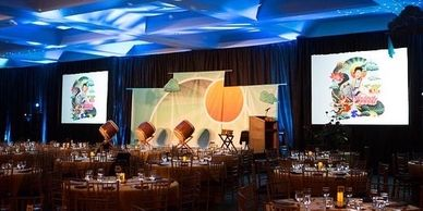 corporate av corporate events audio visual av lighting design production services stage design