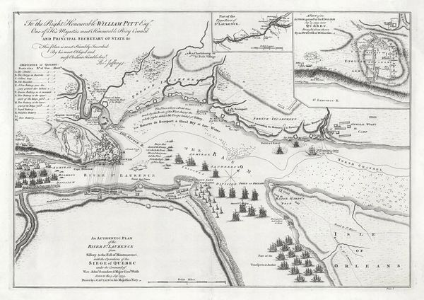 An Authentic Plan of the River St.Laurence from Sillery to the Fall of Montmorenci...