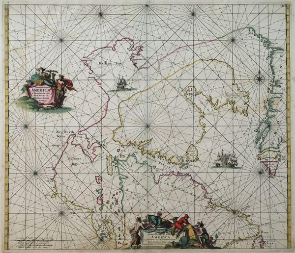 Septentrionalia America a Groenlania, per Freta Davidis et Hudsonad Terraram Novam.