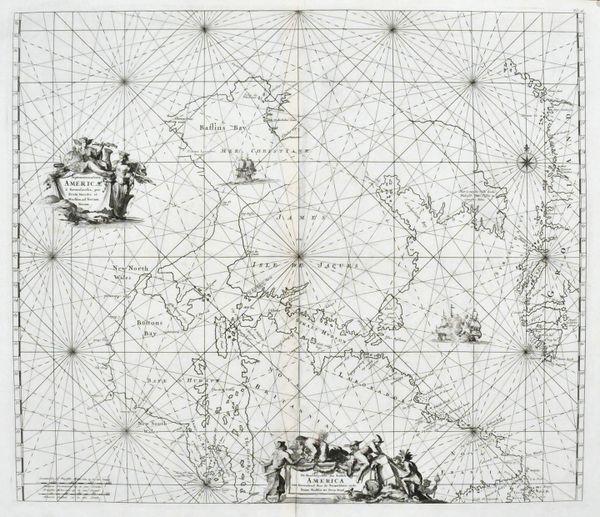 Septentrionaliora America a Greonlandia per Freta Davidis et Hudson ad Terram Novam.