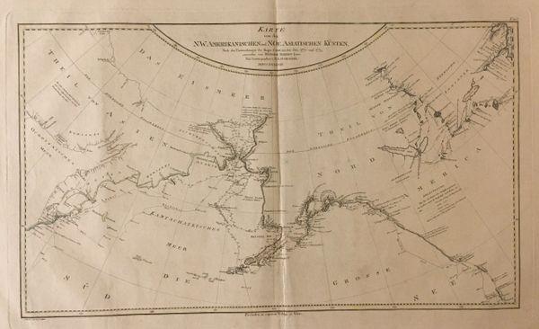 Karte von den N.W. Amerikanischen und N.Oe. Asiatischen Kosten, nach den Untersuchungen des Kaputt...
