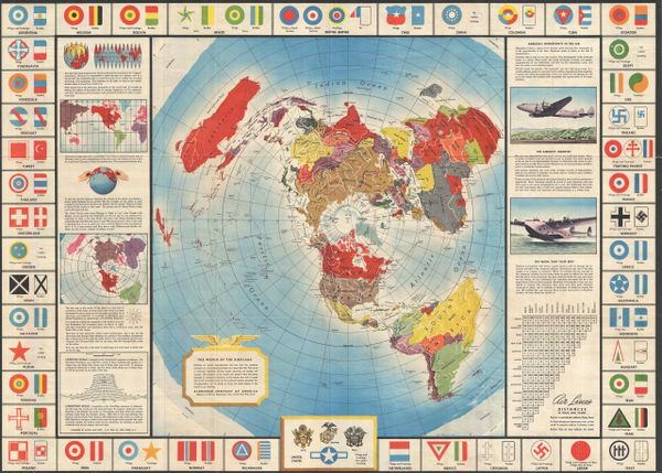 Global Map for Global War and Global Peace.