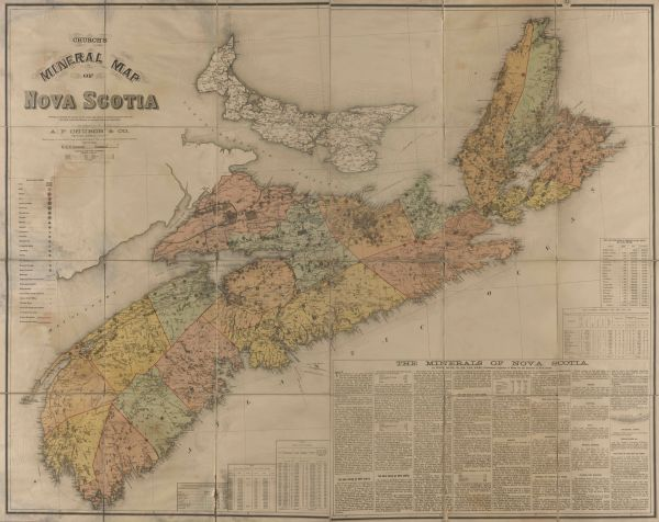 Church's Mineral Map of Nova Scotia.