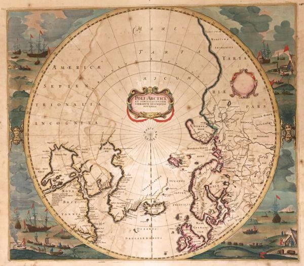 Poli Arctici et Circumiacentium Terrarum Descriptio Novissima.