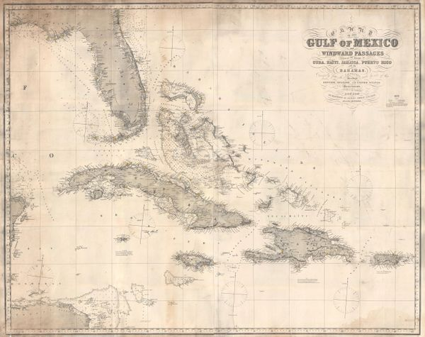 Chart of the Gulf of Mexico and Windward Passages including the Islands of Cuba...