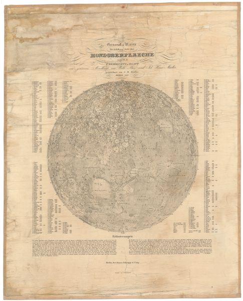 General Karte der sichtbarer Seite der Mondoberfläche.