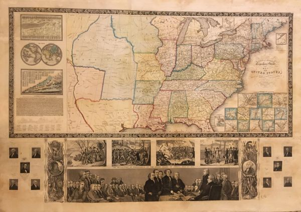 Phelp's & Ensign's Traveller's Guide and Map of the United States...