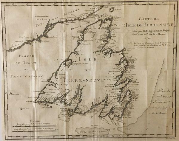 Carte de l'isle de Terre-Neuve...