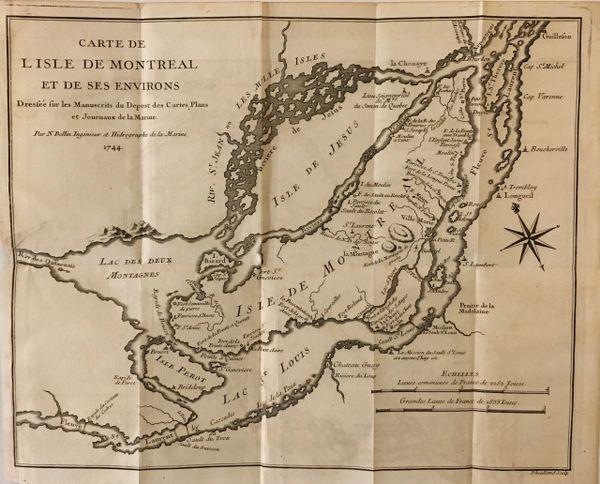 Carte de l'isle de Montreal et de ses environs...