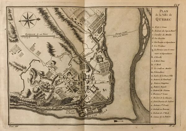 Plan de la ville de Quebec.