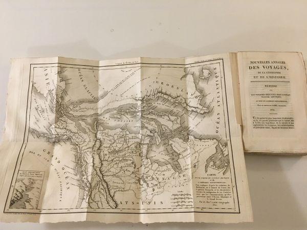 Carte d'une partie de l'Ocean Arctique et de l'Amérique Septentrionale.