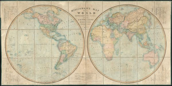 Missionary Map of the World Distinguishing the Nations of All Protestant Missionary Societies.