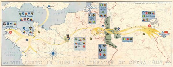 1943 VIII Corps in European Theater of Operations 1945