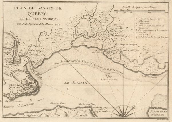 Bellin, Plan du Bassin de Quebec et de ses Environs.