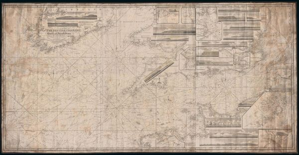 John William Norie map, A Chart of the British Channel...