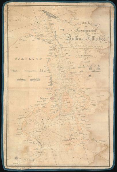 Louis de Conink Chart, Speciel Kaart over Farvandet mellem Kullen og Falsterboe...