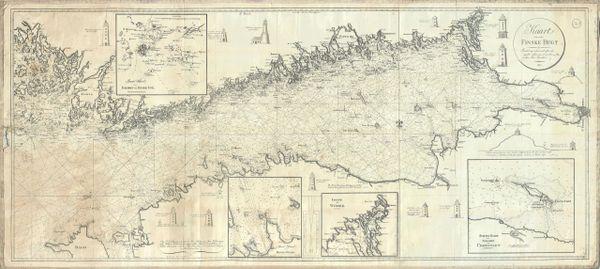 Johan Georg Blankensteiner Chart, Kaart over den Finske Bugt, samlet og reduceret efter de nyeste udkomne svenske og rusiske Soe-Kaarter.