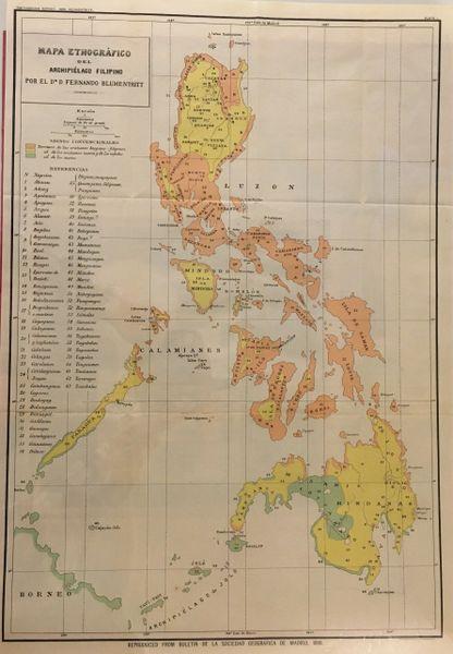 Ferdinand Blumentritt, Mapa Etnográfico del Archipiélago Filipino...