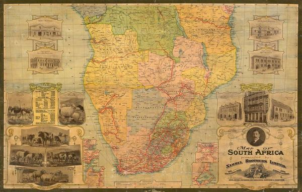 Waterlow and Company, A Map of South Africa presented by Sammel Brothers Limited.