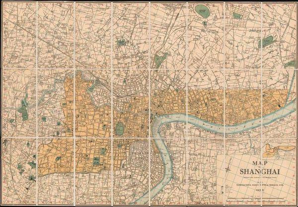 China Daily News & Herald, Map of Shanghai