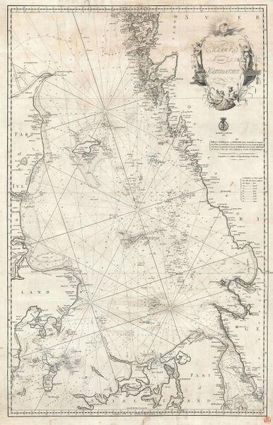 Kaart over Kattegattet.