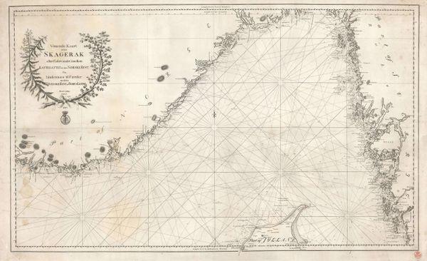 Voxende Kaart over Skagerak eller Fahrvandet imellem Kattegattet og den Norske Kyst…
