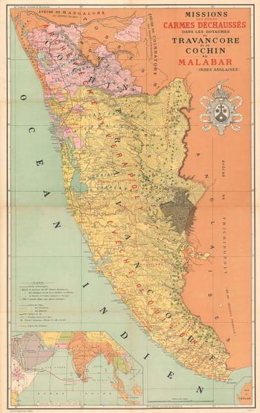 Missions des Pères Carmes Déchaussés dans les Royaumes de Travancore et de Cochin au Malabar (Indes Anglaises).