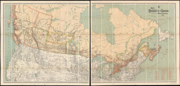 Map Shewing the Railways of Canada to Accompany Annual Report on Railway Statistics 1886.