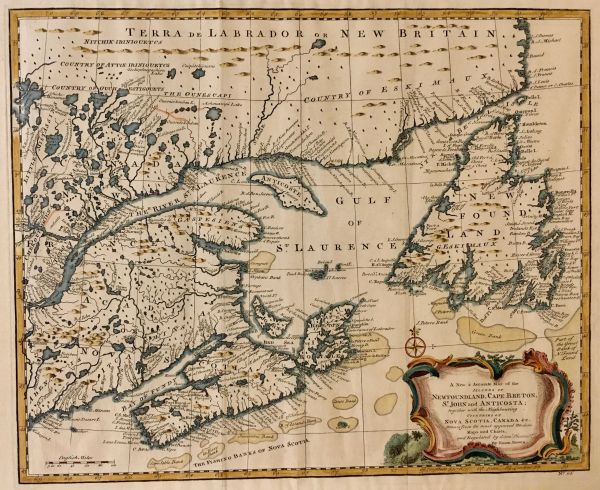 A New & Accurate Map of the Islands of New Foundland, Cape Breton, St. John and Anticosta.