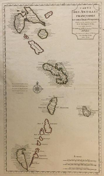 Del'Isle, Carte des Antilles Françaises et des Isles Voisines...
