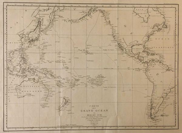 La Pérouse, Carte du Grand Océan ou Mer du Sud...