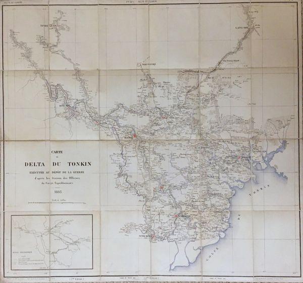 Carte du Delta du Tonkin Executé au Dépot de la Guerre d'après les travaux des Officiers du Corps Expéditionnaire.