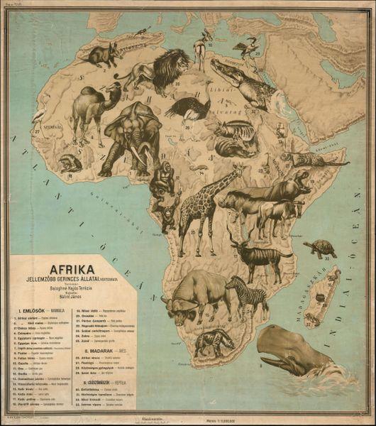 Afrika. Jellemzöbb Gerinces Állatai.