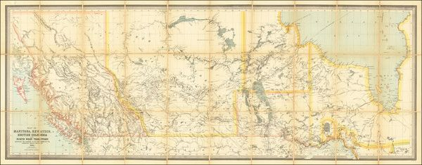 Map of Manitoba, Kewaydin, British Columbia and North West Territory, Shewing the Country to be Traversed by the Canadian Pacific Railway.