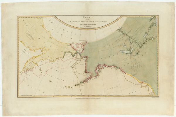 """Chart of the N.W. Coast of America and the N.E. Coast of Asia Explored in the Years 1778 and 1779. Prepared by Lieut. Heny. Roberts under the immediate Inspection of Capt Cook . . . 1784 (The """"Legendary Lost Chart of Captain James Cook"""")"""