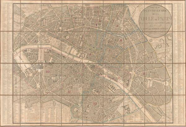 Nouveau Plan Planitinéraire de la Ville de Paris...