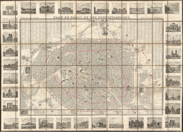 Plan de Paris et ses Fortifications.