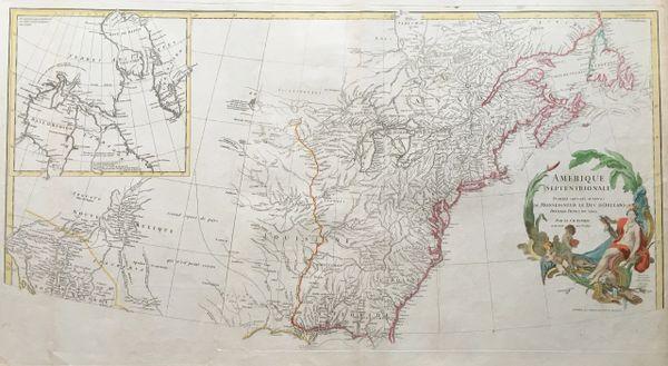 Amerique Septentrionale. Publiée sous les auspices de Monseigneur le Duc d'Orléans