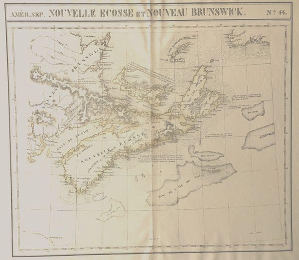 Amér. Sep. Nouvelle Ecosse et Nouveau Brunswick.