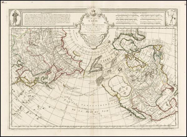 Carte Des Nouvelles Decouvertes Au Nord de la Mer de Sud, Tant a l'Est de la Siberie et du Kamtchatcka, Qu'a l'Ouest de la Nouvelle France…