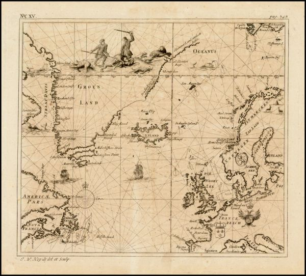 [Map of the North Atlantic]