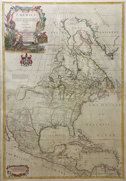 North America corrected from the Observations Communicated to the Royal Society at London, and the Royal Academy at Paris.