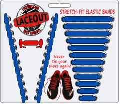 LaceOut, Blue elastic shoelaces for your running or vans shoes