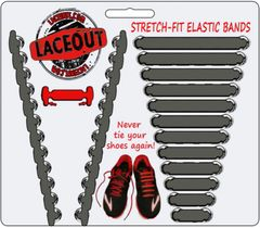 LaceOut, Gray elastic shoelaces for your running or vans shoes