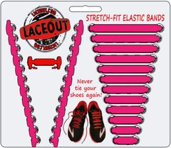 LaceOut, Pink elastic shoelaces for your running or vans shoes