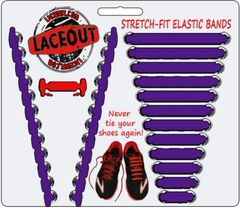 LaceOut, Purple elastic shoelaces for your running or vans shoes