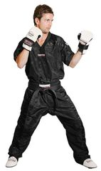 TOP TEN Sparring Uniform Black Mesh