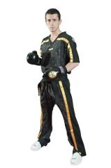 TOP TEN Sparring Uniform Black/Gold Mesh