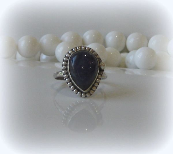 Antique Silver Indian Sapphire Ring