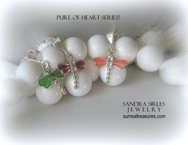 PURE OF HEART SERIES DRAGONFLY NECKLACES
